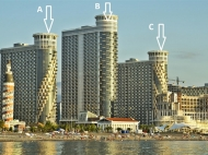"""The residential complex of hotel-type """"SEA TOWERS"""" by the sea, center of Batumi on Sherif Khimshiashvili St. Apartments by the sea in a residential complex hotel-type """"SEA TOWERS"""" in the center of Batumi, Georgia. Photo 1"""