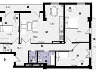 """Роскошные апартаменты в Сабуртало, Тбилиси, Грузия. Купить апартаменты в комплексе """"Redix""""  в центре Тбилиси, Грузия. Фото 3"""