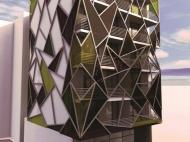 ახალმშენებარე სახლი ბათუმის ცენტრში. საქართველო. 6-სართულიანი სახლი ქალაქ ბათუმის პრესტიჟულ რაიონში ვ. ფშაველასა და მ. აბაშიძის ქუჩების კვეთა. ფოტო 1